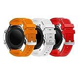 YaYuu Samsung Galaxy Watch 46mm/Gear S3 Bracelets de Montre, Bande de Remplacement en Silicone Souple Sport Strap pour Samsung Gear S3 Frontier/S3 Classic/Moto 360 2nd Gen 46mm Smart Watch
