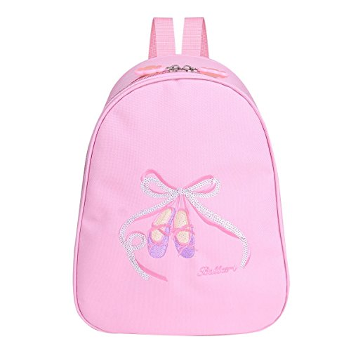 iixpin Kids Girls School Bag Ballet Dance Jazz Swim Backpack Rucksack Embroidered Toe Shoes Dancing Gym Travel Princess Style