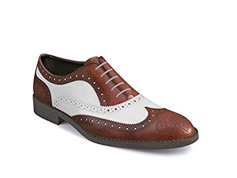 DIS - Sophia - Oxford Wing Brgue - Man - White Calf Leather And Deco - Size 39.5