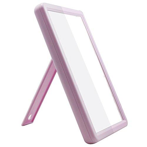 MYITIAN Behandeln Beleuchtete Make-up-Spiegel Quadrat Falten Tabelle Mount Wandspiegel Dreifach Kosmetikspiegel-E (Bronze-beleuchtete Make-up-spiegel)