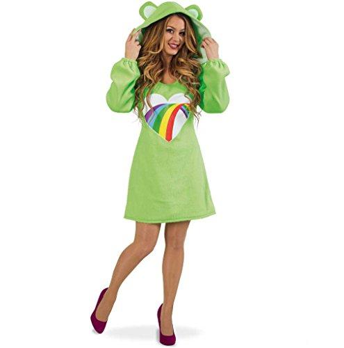 KarnevalsTeufel Kleid Baerli Damen-Kostüm grün Mütze mit Ohren Bärchen-Outfit (M)