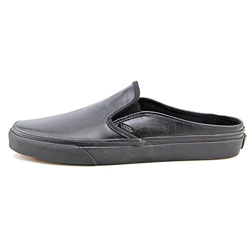 Vans Classic Slip-On Mule, Baskets Basses Mixte Adulte Noir (Leather/Black/Black)