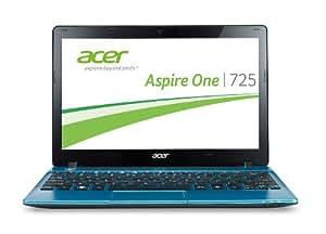 Acer Aspire One 725 29,5 cm (11,6 Zoll) Netbook (AMD C70, 1,1GHz, 2GB RAM, 320GB HDD, ATI Radeon 6290, Win 8) blau