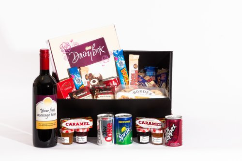 Personalised Sweet Treats Cabernet Sauvignon Hamper. Birthday, Anniversary, Engagement, Easter, Mother's day, Father's day, Valentine's day, Wedding or Christmas gift idea