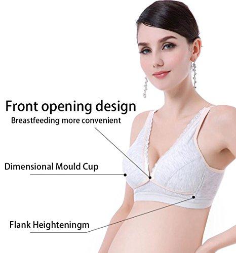 Longless No cotone cerchi allattamento al seno maternità anti-cadenti fibbia prima di allattamento al seno reggiseno A