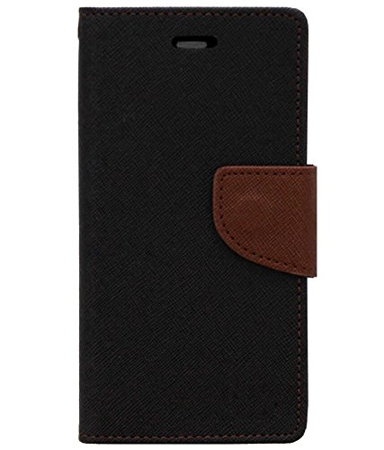 Zocardo Fancy Diary Wallet Flip Case Cover for Gionee Marathon M5 lite -Black