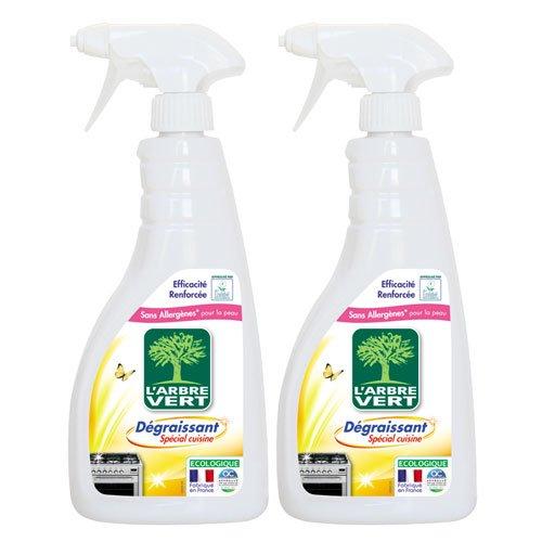 L'Arbre Vert - Spray Cuisine Dégraissant - 740 ml - Lot de 2 (Modèle aléatoire)