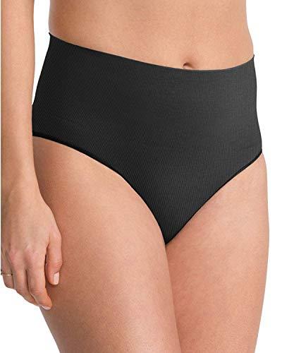 Cupid Fine Shapewear Womens High Waist Hi Cut Control Slimming Underwear  Briefs, Black, X Large
