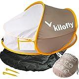 kilofly Instant Pop Up Portable UPF 35+ Baby Travel Bed + Sleeping Pad