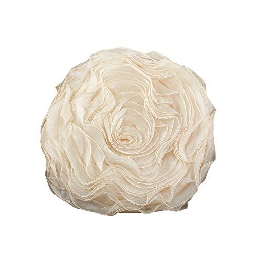 Lifestyle-blumen-kissen (SARO LIFESTYLE Saunders-Roe Lifestyle 1Stück Blumen Kissen, champagnerfarben, 16