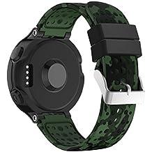 Correas de reloj para Garmin Forerunner 235GPS Watch de Vneirw, correas de sustitución de gel de sílice para reloj, E, Band Wide: 15MM