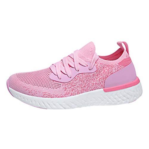 Scarpe Zeppe Donna Sneakers Eleganti,Ragazze Casual Vintage Soft Leather Corsa Camminata Calcetto Scarpette Stivali con Sportive Running Sneaker