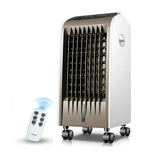 KEYUAN Mobile Klimageräte, Haushaltsluftkühler Weitwinkel-Luftversorgung 4h Timing 3 Windgeschwindigkeit 40 db Kühlgeräte für Räume,75W, AUX-120HR,Brown