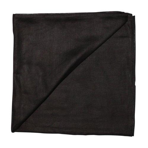 Superfreak® Baumwolltuch°Tuch°Schal°100x100 cm°100% Baumwolle, Farbe schwarz