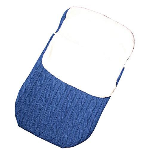 Formesy Baby Neugeborene Gestrickte Kapuze Swaddle Schlafsack Jungen Häkeln Kuscheldecke Lamm Kaschmir Warm Weich Strickdecke Wickeldecke Schlafsack Kostüm (Blau) (Blau Lamm Kostüm)