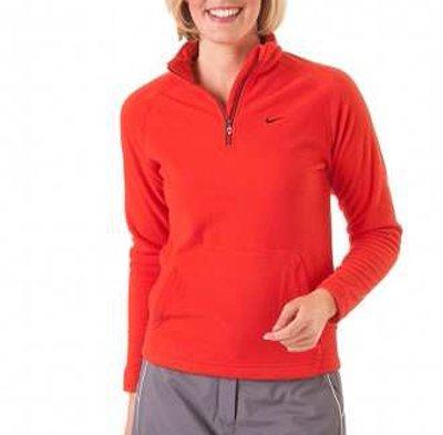 NIKE Kinder GOLF THERMA-FIT FLEECE HALF-ZIP Kinder Pullover Farbe: Rot; Größe: L (Sweater Half Golf Zip)