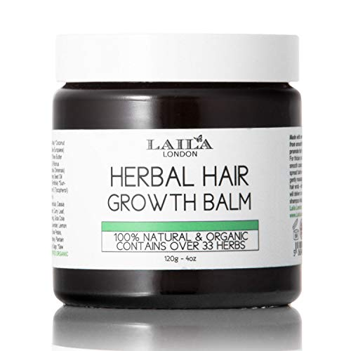 Le baume de pousse des cheveux aux plantes bio 100 % naturel favorise la croissance pour mes cheveux naturels, défrisés, traités chimiquement, Afro, et afro-américains.Avec beurre de Karité, huile de noix de coco, huile d'argan de Jamaïque et huile de ricin.