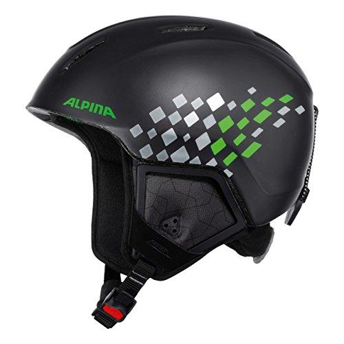 Alpina Kinder Skihelm Carat XT, Black Green Matt, 51-55 cm, 9080237