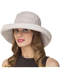 Chapeau Pliable de Soleil Bord Large Femme Fille Printemps Été