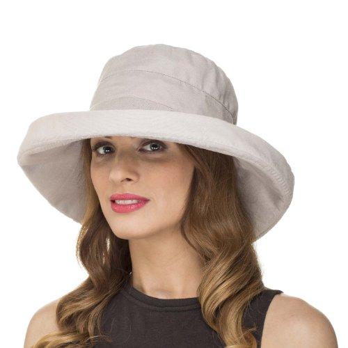 ladies-womens-summer-wide-brim-shapable-foldable-packable-sun-hat-ls1304-stone