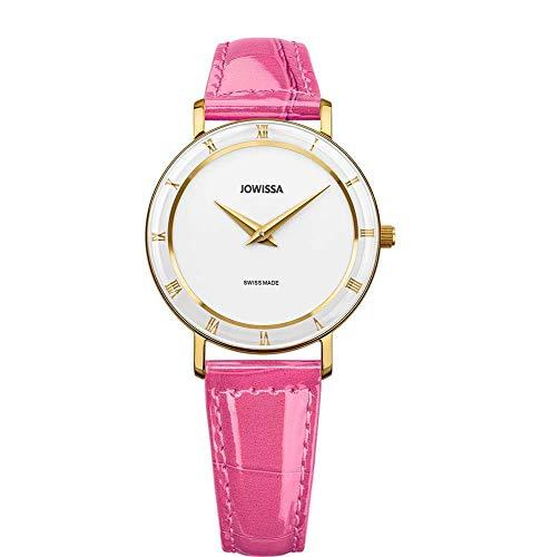 Jowissa Roma Swiss J2.280.M - Reloj de Pulsera para Mujer, Color Blanco, Rosa y Dorado