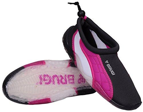 Brugi 2sa9badeshuhe surfshuhe Sport acquatici protettivi Sailing aquashuhe grau-rosa-weiß