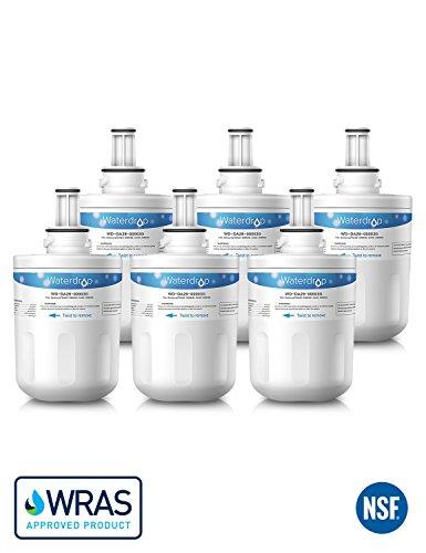 6 x Waterdrop WD-DA29-00003G Kühlschrank Wasserfilter Ersatz für Samsung Aqua-Pure Plus DA29-00003G, DA29-00003B, DA29-00003A, DA29-00003D, HAFCU1