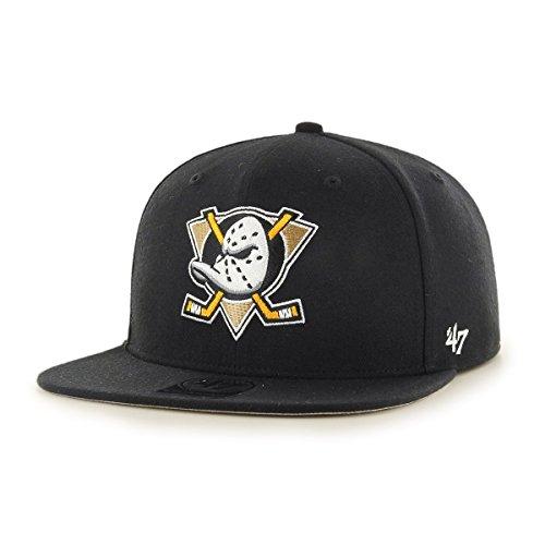 de5f0898764c 47 Brand Snapback Cap - NHL Anaheim Ducks noir