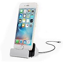 iEFiEL Base de Carga Soporte de Cargador USB para Apple Móvil iPhone 5 / 5s / 6 / 6s / 6 plus / 6s plus iPad Mini iPod Touch 5 iPhone7 / 7 Plus