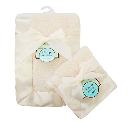 american-baby-company-ultra-soft-and-cuddly-sherpa-blanket-set-ecru