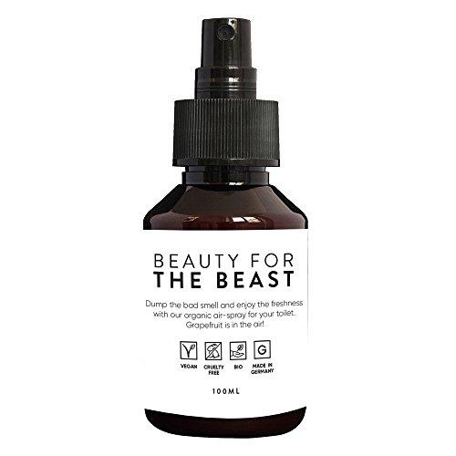 Déodorant spray pour toilette Beauty for the Beast | Accessoire salle de bain | 100ml désinfectant avec huile essentielle | Alternative au bloc wc