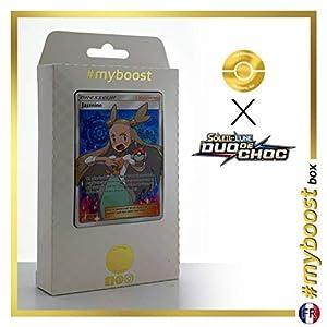 Jasmine (Yasmine) 177/181 Entrenadore Full Art - #myboost X Soleil & Lune 9 Duo de Choc - Box de 10 Cartas Pokémon Francés