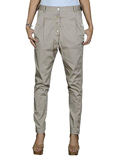 Gaudi-pantaloni da donna-Beige-38Casual