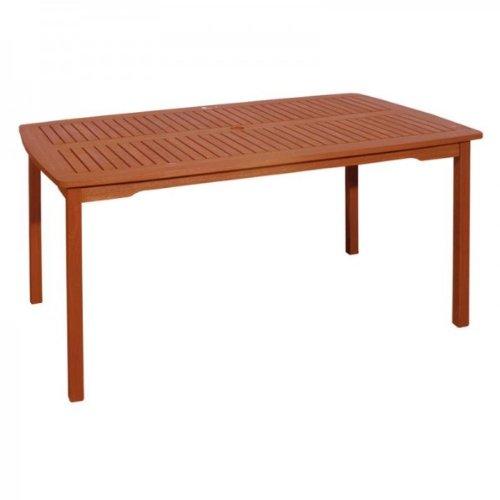Garten Tisch aus hochwertigem Bangkirai Hartholz - 150x90