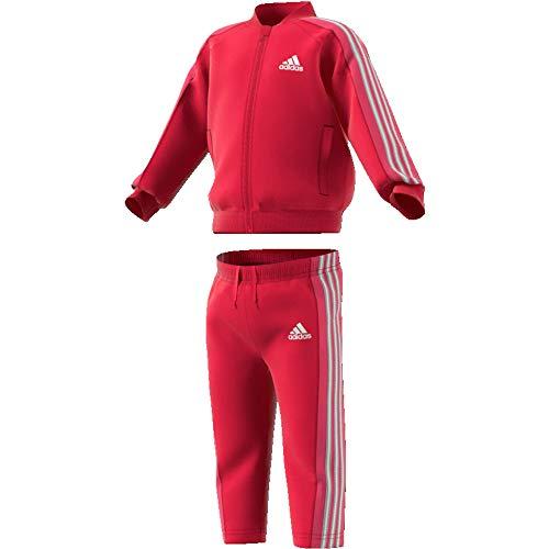 adidas Baby Trainingsanzug Shiny Tracksuit Active pink/REAL PINK S18/white 104