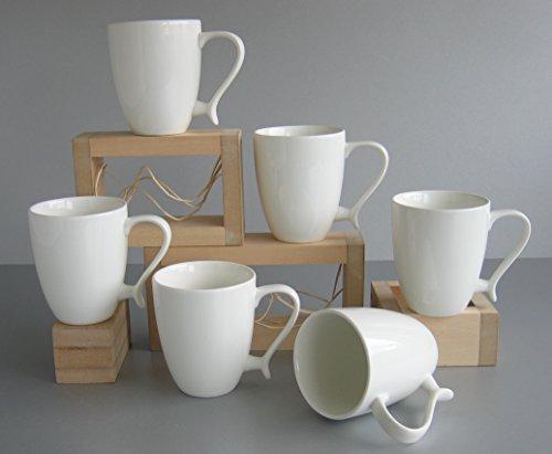 Creatable 6-er Kaffeebecher Ocean, Porzellanbecher, Kaffeetasse, in wei?