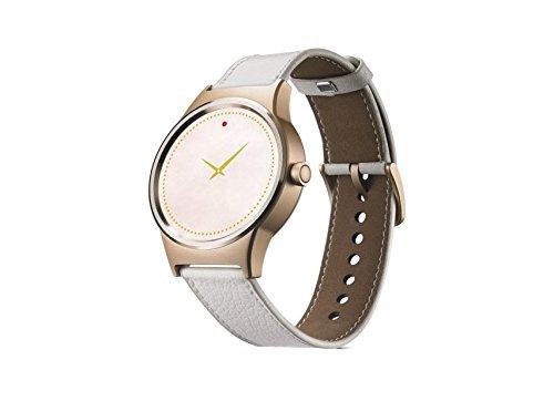 Alcatel TCL MOVETIME Smartwatch Oro con Lederbracelet Blanco