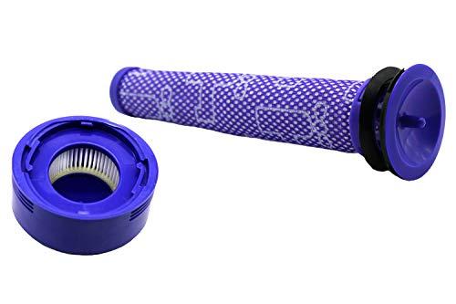 Filterset (Vormotor- und Nachmotorfilter) für Dyson V8 Cordless Staubsauger. (Vergleichbar mit 965661-01, 967478-01). Original Green Label Produkt.
