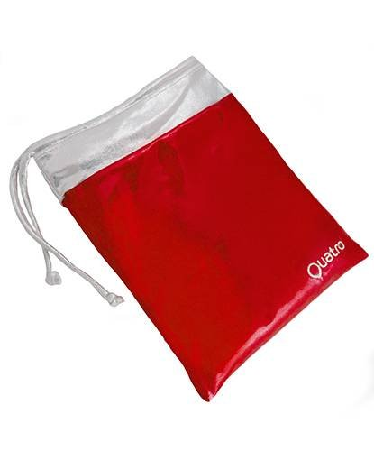 Quatro Gymnastikhandtasche, Rot/silberfarben