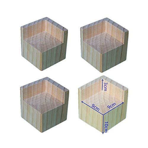 Möbel Risers aus Holz Möbelerhöher Betterhöhung Möbelerhöhung Tischerhöher Elefantenfuß Bed Riser 4 Stück