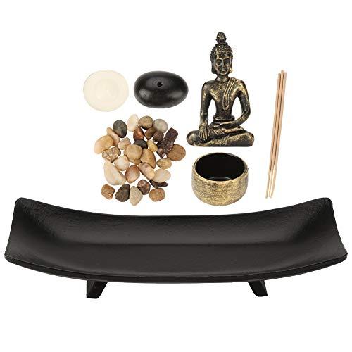Meditation Buddha-statue (Tischplatte Buddha Statue Räucherstäbchen Halter Zen Garten Sand Meditation)