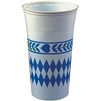 Partybecher Trinkbecher Bayrisch Blau Einweg-Becher Oktoberfest 0,2l Wiesn