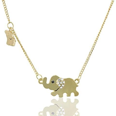 mese Londres Oro Elefante collar para dama–Colgante elegante caja de regalo