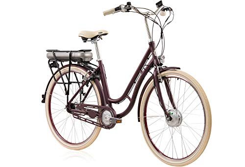 e bike damen retro Unbekannt Tretwerk Traveler Retro 28 Zoll E-Bike Damen Merlot