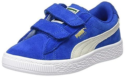 Puma Suede 2 Straps Ps, Sneakers Basses Mixte Enfant, Bleu (Snorkel Blue-White), 34 EU