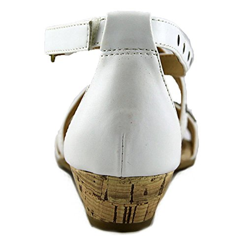 Easy Spirit Malvina Synthétique Sandales Compensés White-White