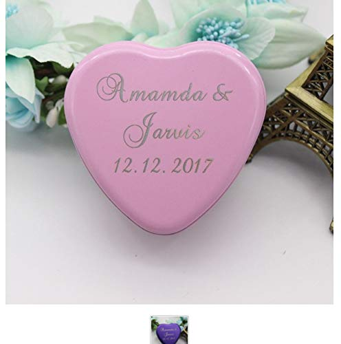 Valentine Candy Crafts (Gift Personalized Engraved Wedding Boxes Love Heart Tinplate Candy Box Boxes Unique Craft Party Decoration Favor Supplies A)