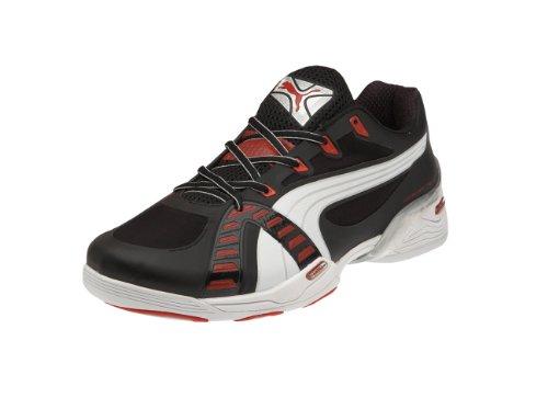 Puma Accelerate VI, chaussures de sport - intérieur homme Noir - Schwarz (black-white-puma red 04)