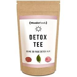 Detox Tee Day - Deine 30 Tage Detox-Kur | 100% Natürliche Inhaltsstoffe | Made in Germany | abnehmen ohne Diät-Pillen | schlank durch Detox | Nur 0,3 € pro Teekanne
