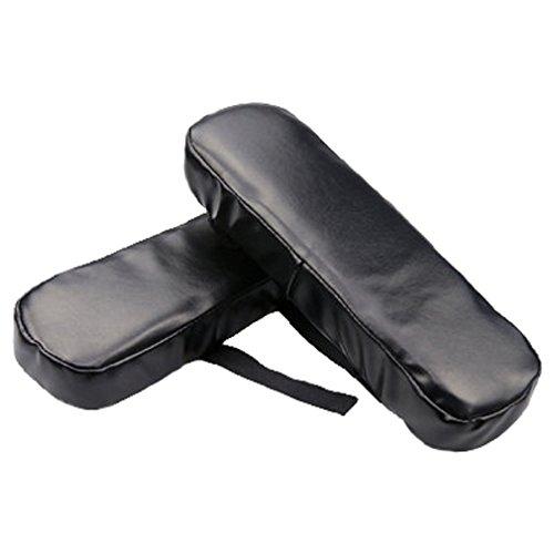 Schaum-stuhl-pad (FUYUFU 2pcs PU Stuhl Memory Foam Armlehne Pads Elbows Kissen Kissen Für Armlehne Kissen Für Ellenbogen Weiches Material Entlastet Druck auf die Ellbogen (Schwarz))